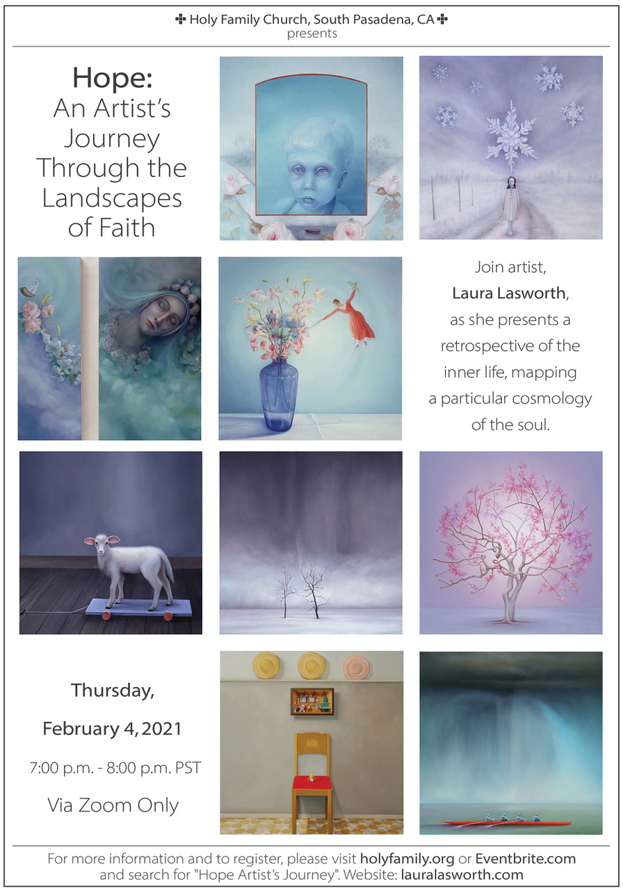 (Feb 4) Hope: An Artist's Journey Through the Landscapes of Faith by Laura Lasworth