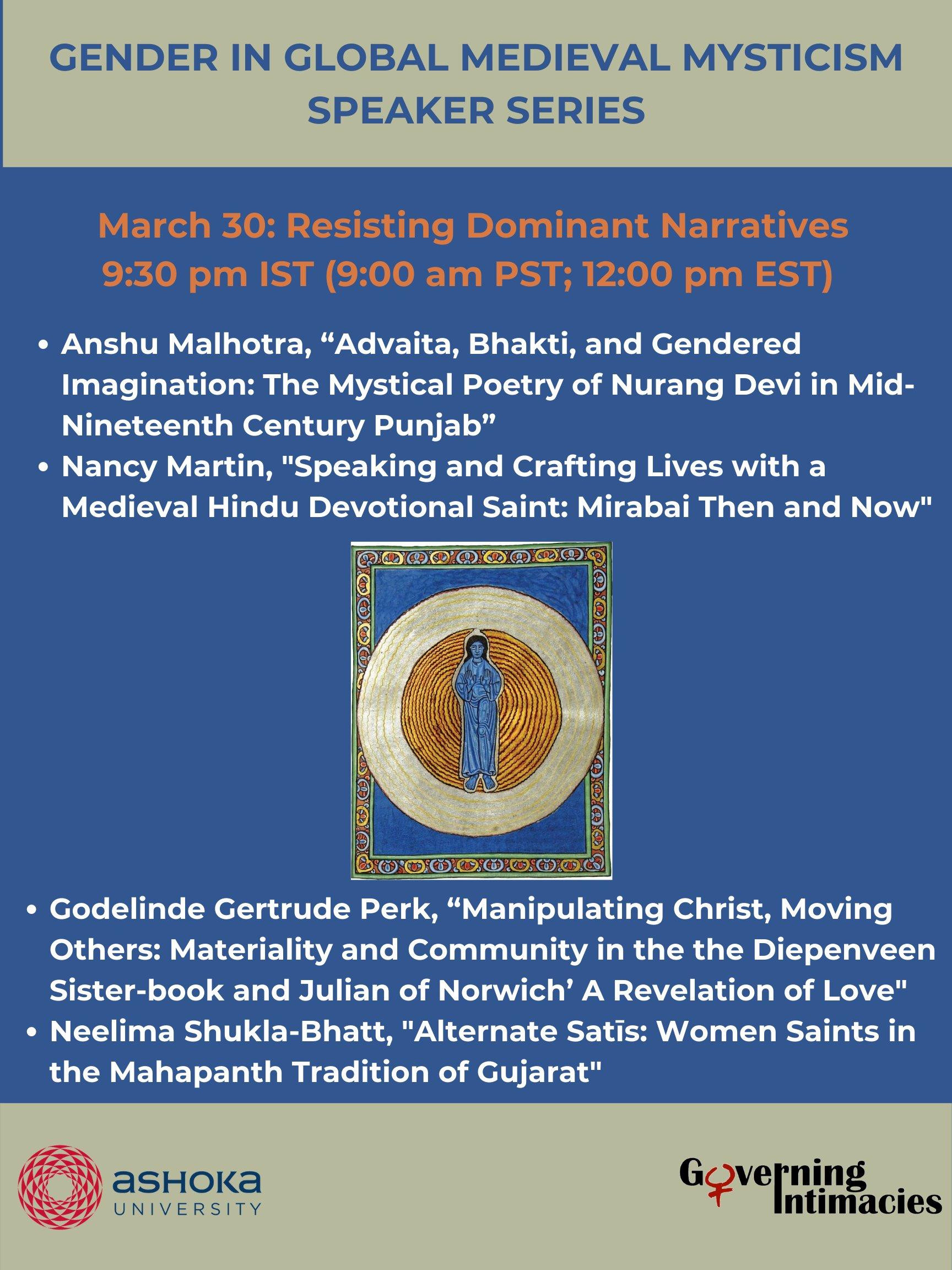 March 30: Resisting Dominant Narratives 12:00pm EST; 9:00am PST